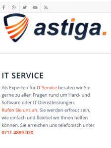 astiga Webseite
