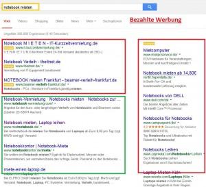 Google Werbung - mit Adwords