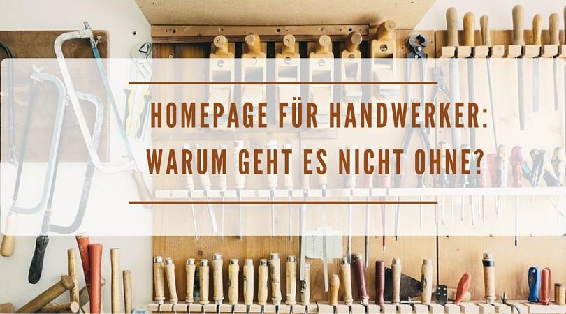 Homepage für Handwerker