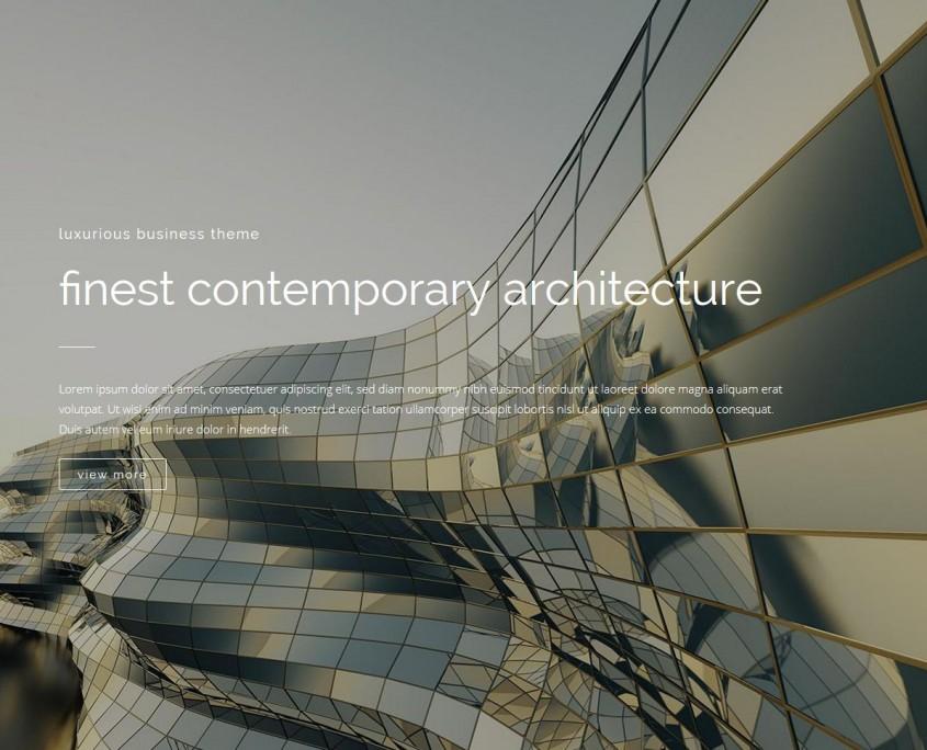 Theme Bridge mit Demo-Inhalt (Architektur)