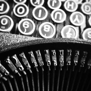 Schreibmaschine grau