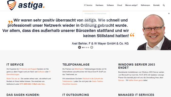 Astiga-Startseite