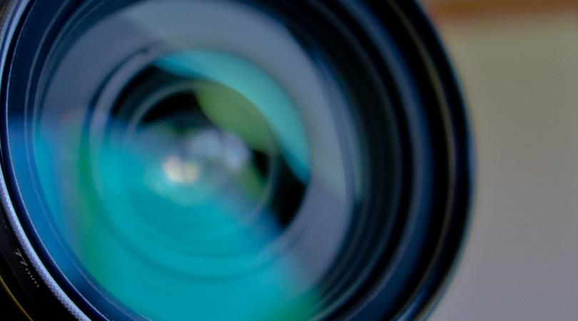 Kameralinse in Nahaufnahme