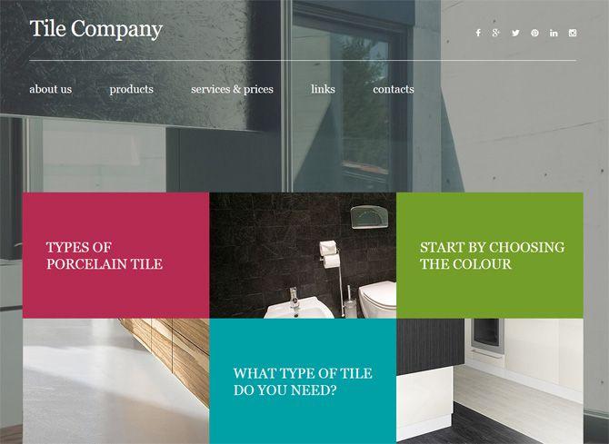 Screenshot von Responsives Moto CMS 3 Template für Innenarchitektur von TemplateMonster