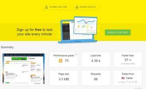 Baseline Check: Speed Test mit Pingdom