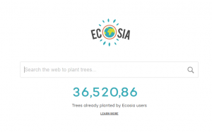 Screenshot of the Ecosia Search Engine
