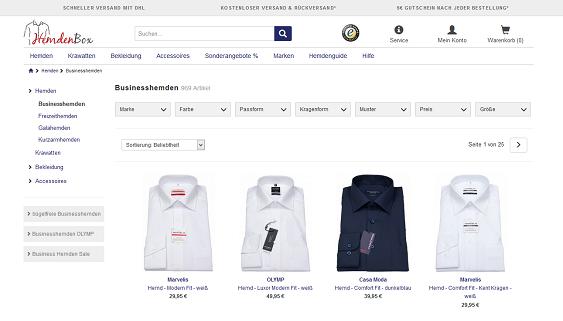 Screenshot der Website hemdenbox.de