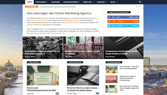 Webredaktion Startseite