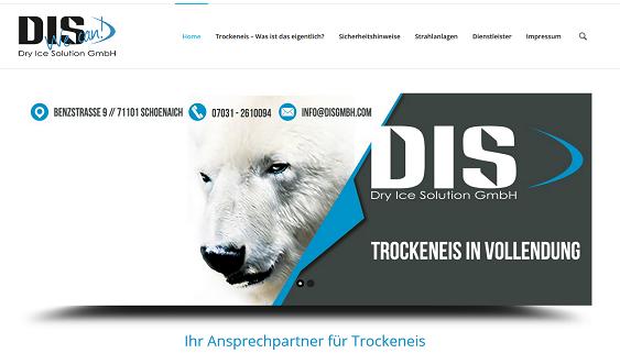 Screenshot der Website der DIS GmbH
