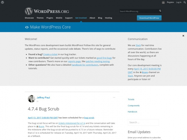 https://make.wordpress.org/core/2017/04/13/4-7-4-bug-scrub/