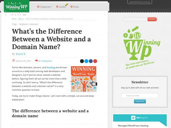 https://winningwp.com/whats-the-difference-between-a-website-and-a-domain-name/