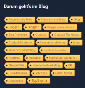 Das beste Tag Cloud Plugin für WordPress