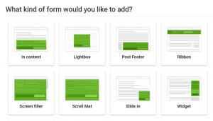Thrive Leads bringt alle möglichen Formulare-Möglichkeiten zum Einsatz bei WordPress mit.