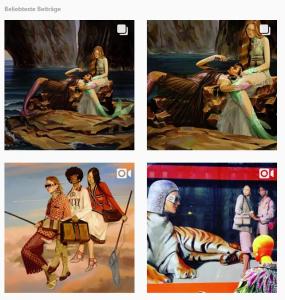 Bild von Guccis utopian fantasy kampagne auf instagram