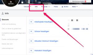 Facebook Gruppen verbergen_ Reiter Info