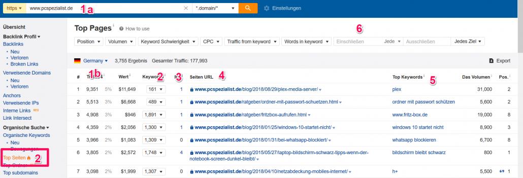 Die beisten (Einzel-)Seiten der Website pcspezialist.de