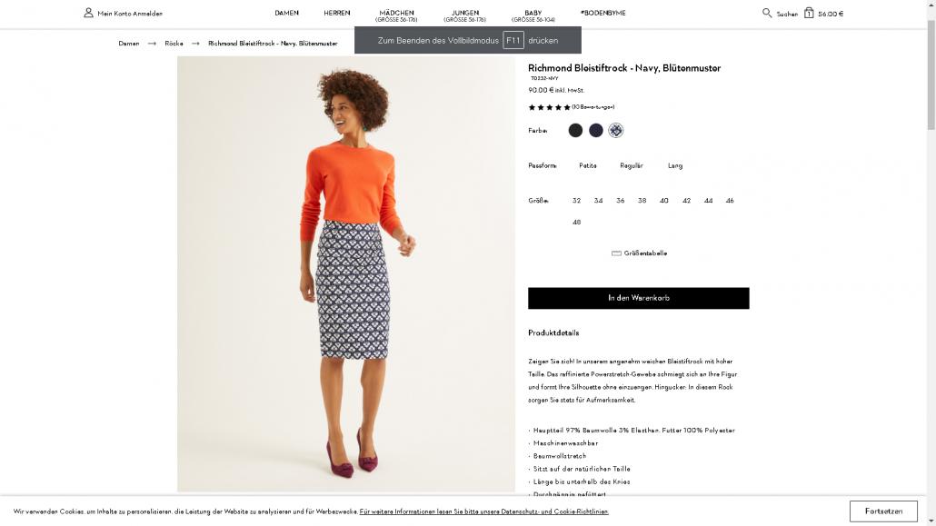 Artikelbeschreibung Beispiel Mode_ Boden
