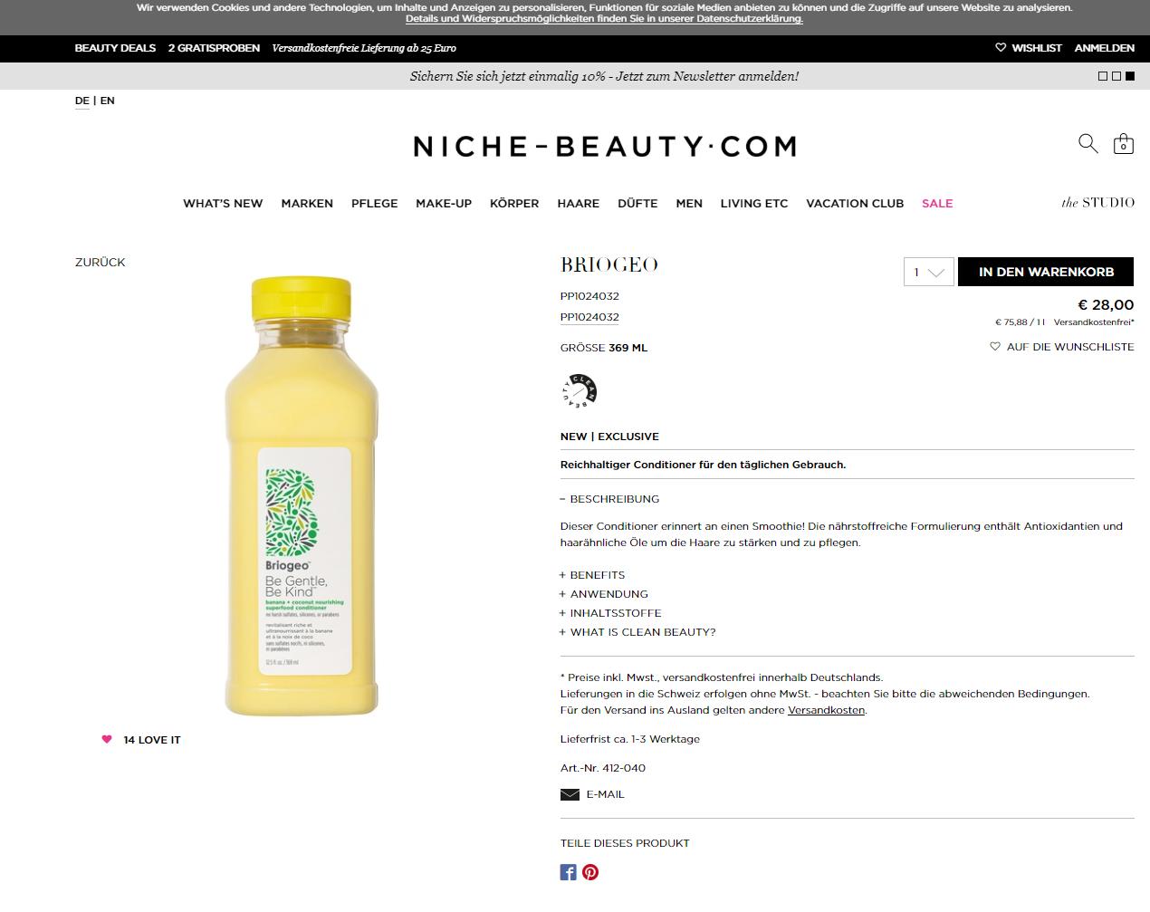 Produktbeschreibung Beispiel Kosmetik